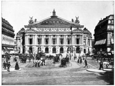 Grand Opera House, Paris, Late 19th Century-John L Stoddard-Giclee Print
