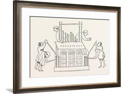 Grand Organ with Bellows and Double Keyboard--Framed Giclee Print