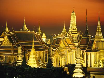 Grand Palace and Temple of the Emerald Buddha, Wat Phra Kaeo-Paul Chesley-Photographic Print