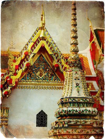 Grand Palace - Bangkok - Retro Styled Picture-Maugli-l-Art Print