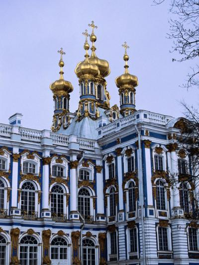 Grand Palace or Catherine Palace in Tsarskoye Selo, St. Petersburg, Russia-Martin Moos-Photographic Print
