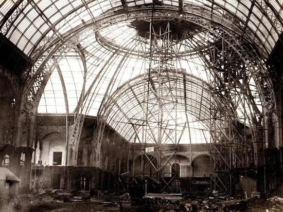 Grand Palais Building Works, 1897-1900--Photographic Print