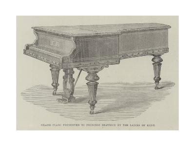 Grand Piano Presented to Princess Beatrice by the Ladies of Kent--Giclee Print