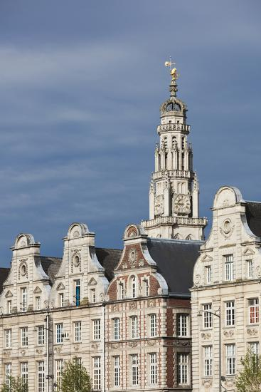 Grand Place Buildings in the Morning, Arras, Pas De Calais, France-Walter Bibikow-Photographic Print
