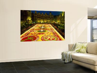 Grand Place, Floral Carpet, Brussels, Belgium-Steve Vidler-Wall Mural