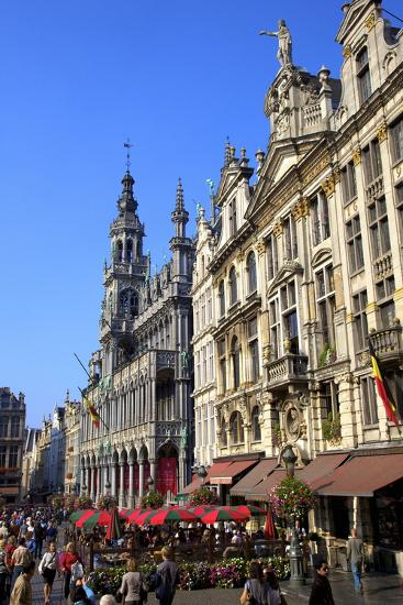 Grand Place, UNESCO World Heritage Site, Brussels, Belgium, Europe-Neil Farrin-Photographic Print