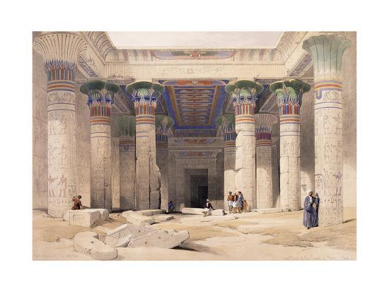 Grand Portico of the Temple of Philae - Nubia, 1842-1849-David Roberts-Giclee Print