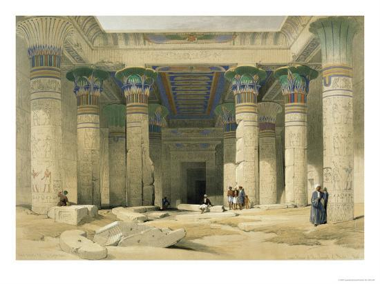 Grand Portico of the Temple of Philae, Nubia-David Roberts-Giclee Print