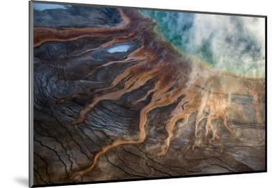 Grand Prismatic Spring in Yellowstone National Park's Middle Geyser Basin-Michael Nichols-Mounted Photographic Print