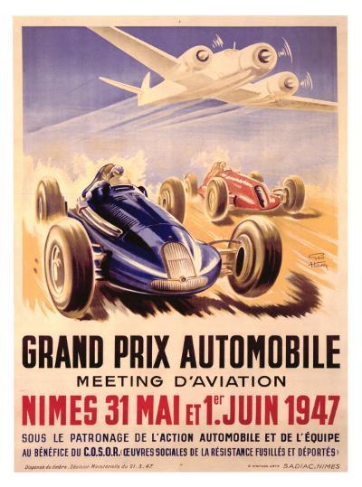 Grand Prix Automobile Meeting-Geo Ham-Giclee Print