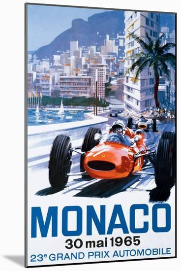 Grand Prix Monaco, 30 Mai 1965--Mounted Giclee Print