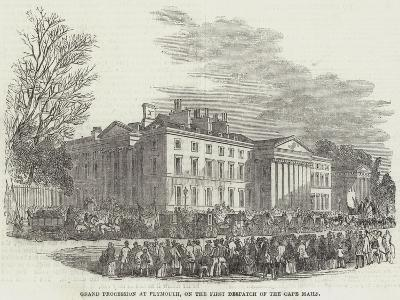Grand Procession of Plymouth, on the First Despatch of the Cape Mails--Giclee Print