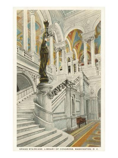 Grand Staircase, Library of Congress, Washington D.C.--Art Print