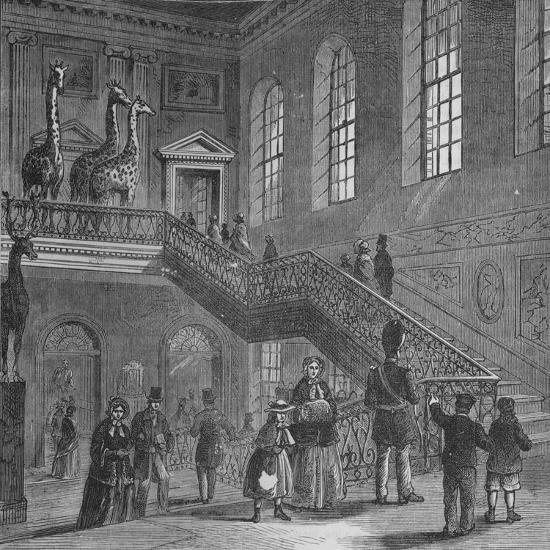 Grand staircase of Montagu House, Bloomsbury, London, c1830 (1878)-Unknown-Giclee Print