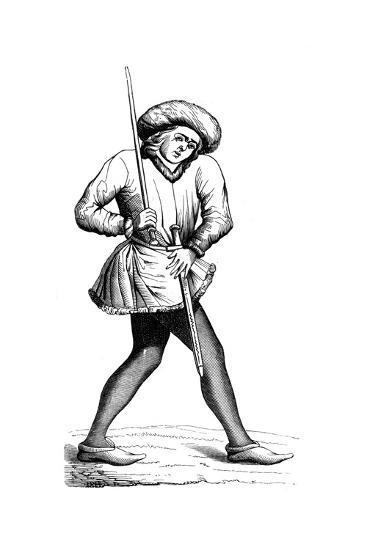 Grand Swiss Provost Marshal, 15th Century--Giclee Print