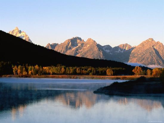 Grand Teton at Sunrise, from Oxbow Bend, Grand Teton National Park, Wyoming-Holger Leue-Photographic Print