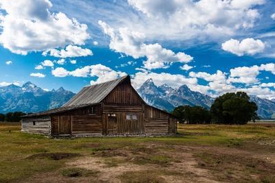 Grand Teton Barn I-Tim Oldford-Photographic Print
