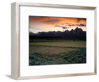 Grand Teton National Park at Sunset-Aaron Huey-Framed Photographic Print