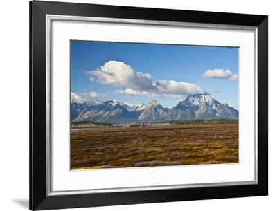 Grand Tetons, Autumn, Jackson Lake, Grand Teton NP, Wyoming-Michel Hersen-Framed Photographic Print