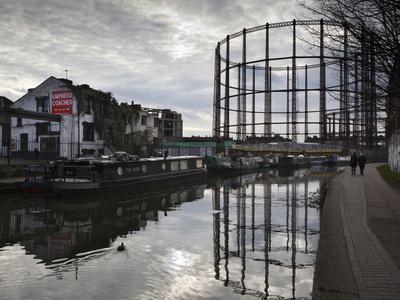 Grand Union Canal, Hackney, London, England, United Kingdom, Europe-Stuart Black-Photographic Print
