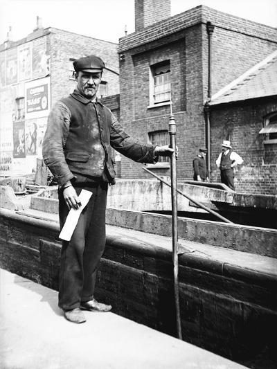 Grand Union Canal Lock Keeper, C1905--Photographic Print