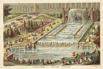 Grand Waterfall, Trocadero Palace, Paris--Giclee Print