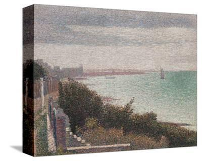 Grandcamp, Evening, 1885-Georges Seurat-Stretched Canvas Print