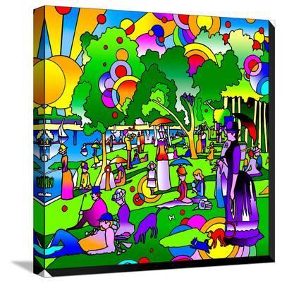 Grande Jatte-Howie Green-Stretched Canvas Print