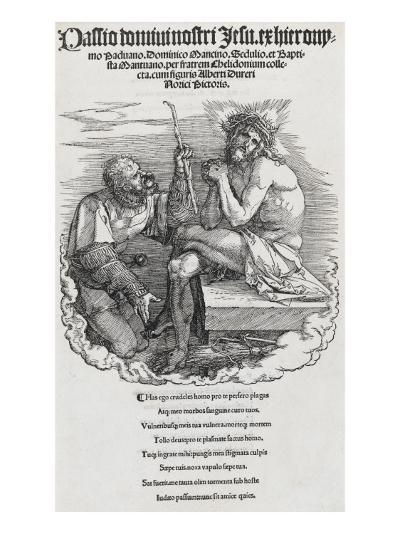 Grande passion - l'homme chargé de douleur et le mercenaire, page de titre-Albrecht D?rer-Giclee Print
