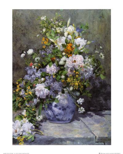 Grande Vaso di Fiori-Pierre-Auguste Renoir-Art Print