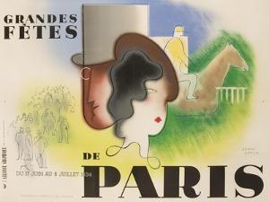 Grandes Fetes De Paris, 1934 French Travel and Tourism Poster