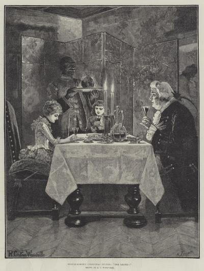 Grandfather's Christmas Dinner, The Ladies!-Richard Caton Woodville II-Giclee Print