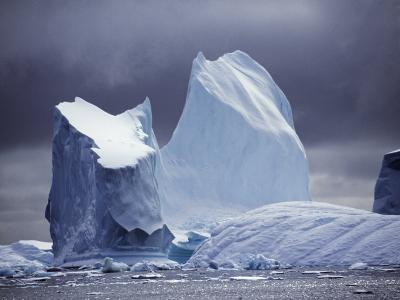Grandidier Channel, Pleneau Island, Grounded Iceberg, Antarctica-Allan White-Photographic Print