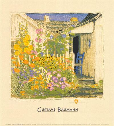 Grandma Battinu0027s GardenBy Gustave Baumann