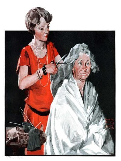 """Grandma Bobs Her Hair,""May 9, 1925-William Meade Prince-Giclee Print"