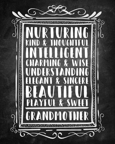 Grandma - Chalkboard-Color Me Happy-Art Print