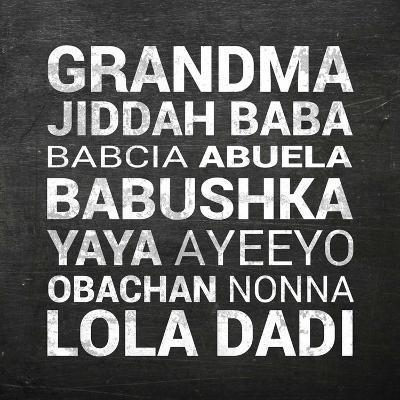 Grandma Various languages - Chalkboard-Color Me Happy-Art Print