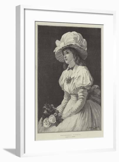 Grandmamma's Portrait--Framed Giclee Print