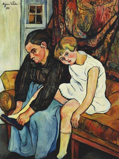 Grandmere Chaussant Une Fillette, 1931-Suzanne Valadon-Giclee Print