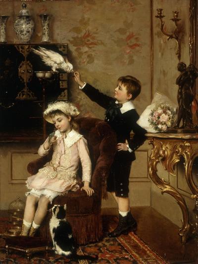 Grandmother's Pets-Albert Roosenboom-Giclee Print
