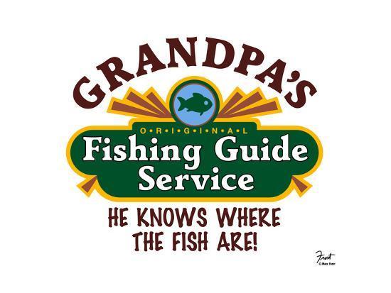 Grandpa's Fishing Guide Service-Mark Frost-Giclee Print