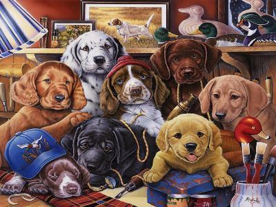 Grandpa's Puppies-Jenny Newland-Giclee Print