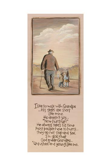 Grandpa-Karen Tribett-Art Print