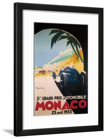 Grandprix Automobile Monaco 1933--Framed Giclee Print