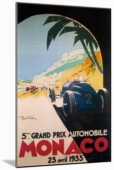 Grandprix Automobile Monaco 1933--Mounted Giclee Print