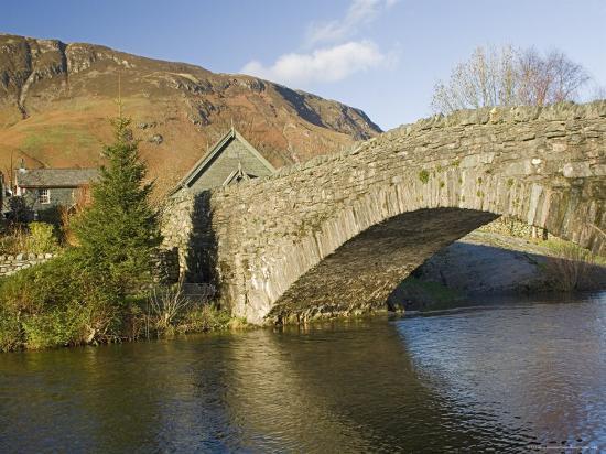 Grange Bridge and Village, Borrowdale, Lake District National Park, Cumbria, England-James Emmerson-Photographic Print
