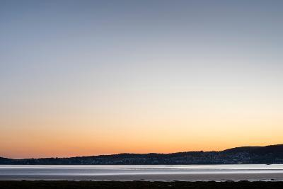 Grange-Over-Sands Overlooking the Kent Estuary at Dusk in Cumbria-Darryl Gill-Photographic Print