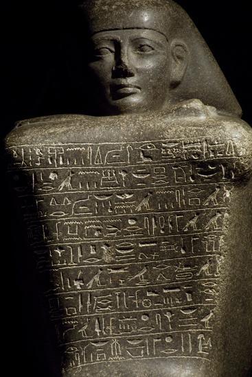 Granite Cube Statue of Yamu Nedjeh from Ourna--Giclee Print