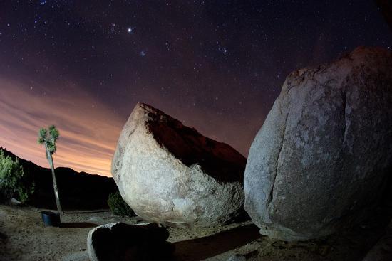 Granite Rocks under Stars in Joshua Tree National Park-Ben Horton-Photographic Print