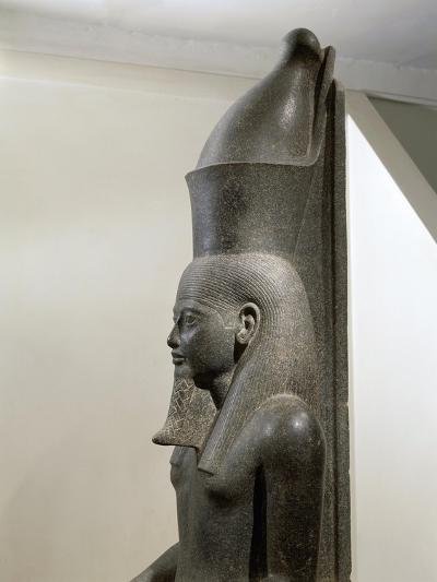 Granite Statue of Horemheb before God Amon--Giclee Print